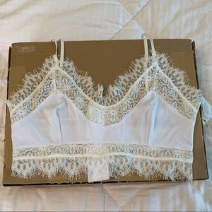 For Love and Lemons white lace bralette never worn